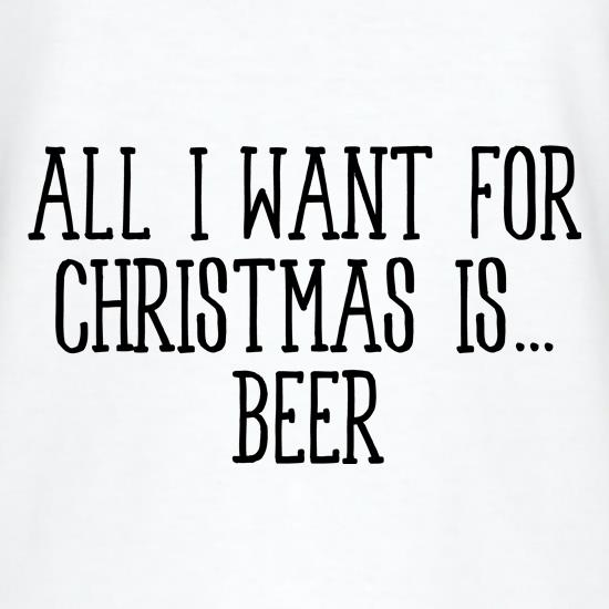 All I Want For Christmas Is Beer V-Neck T-Shirts