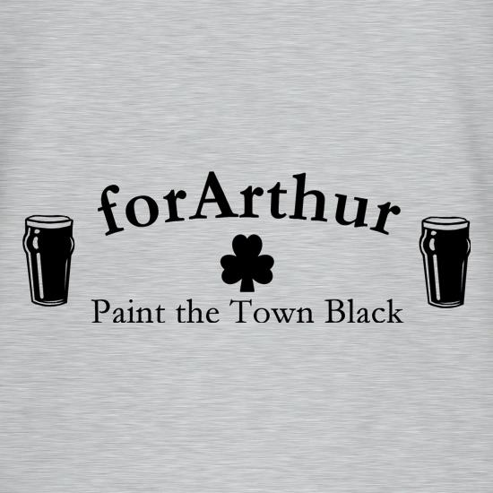 for Arthur! Paint the town black V-Neck T-Shirts