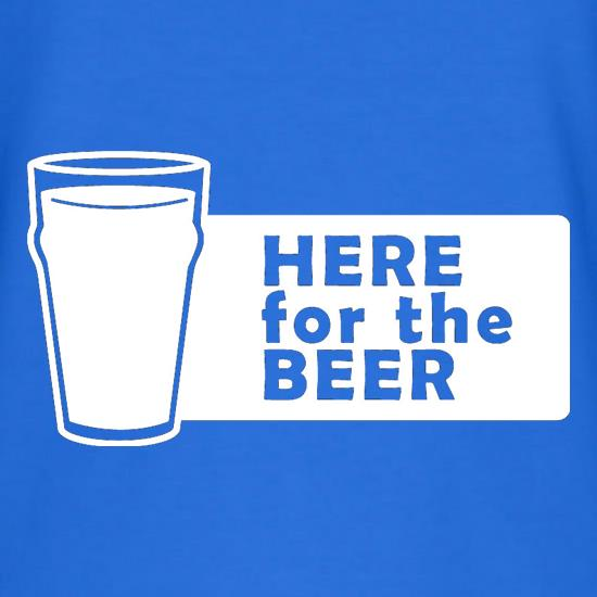 Here For The Beer V-Neck T-Shirts