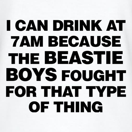 I Can Drink At 7am Because The Beastie Boys Fought For That Type Of Thing V-Neck T-Shirts
