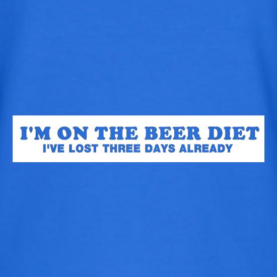 I'm On The Beer Diet I've Lost Three Days Already V-Neck T-Shirts