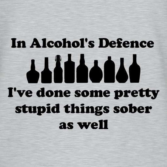 in alcohol's defence,  ive done  some pretty stupid things sober as well V-Neck T-Shirts