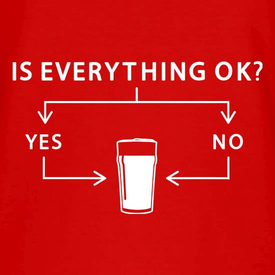 Is Everything Ok? V-Neck T-Shirts