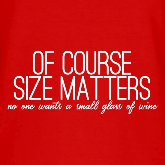 Of Course Size Matters V-Neck T-Shirts