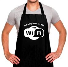 I'm Only Here For The Free WiFi t shirt