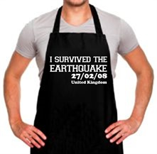 I Survived The Earthquake - 27/02/08 UK t shirt