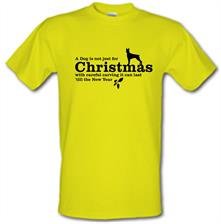 A dog is not just for christmas, with careful carving it can last 'till the new year t shirt
