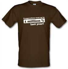 Exaggerations Went Up By A Million Percent Last Year! t shirt