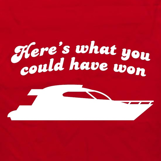 Here's What You Could Have Won t shirt