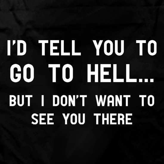 I'd Tell You To Go To Hell... t shirt