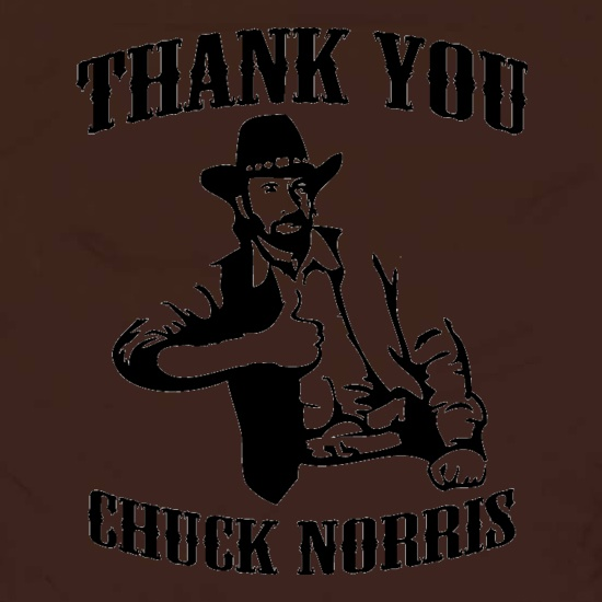 Thank you Chuck Norris t shirt