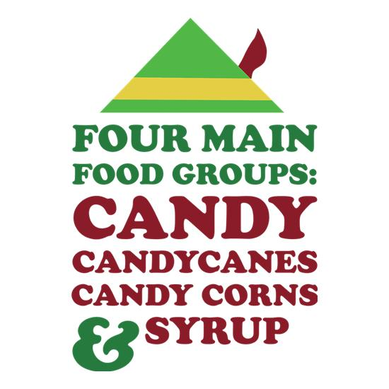 Four Main Christmas Food Groups t shirt