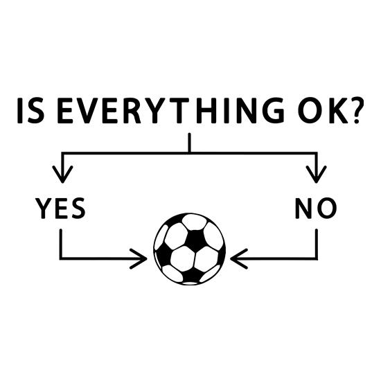 Is Everything Ok? Football. t shirt