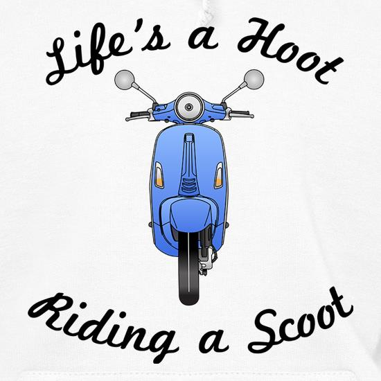Life's A Hoot Riding A Scoot t shirt