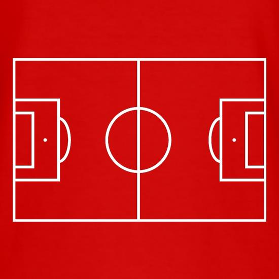 Football Pitch T Shirt By Chargrilled