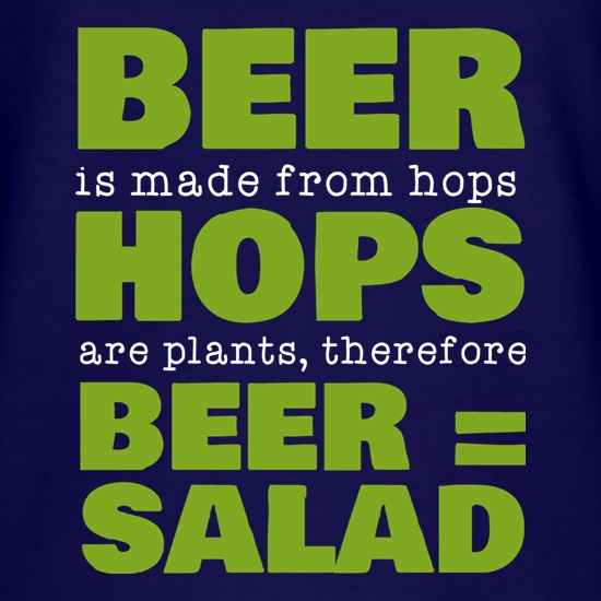 Beer Equals Salad t shirt
