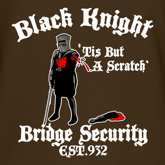 Black Knight Bridge Security t shirt