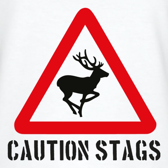 Caution Stags t shirt