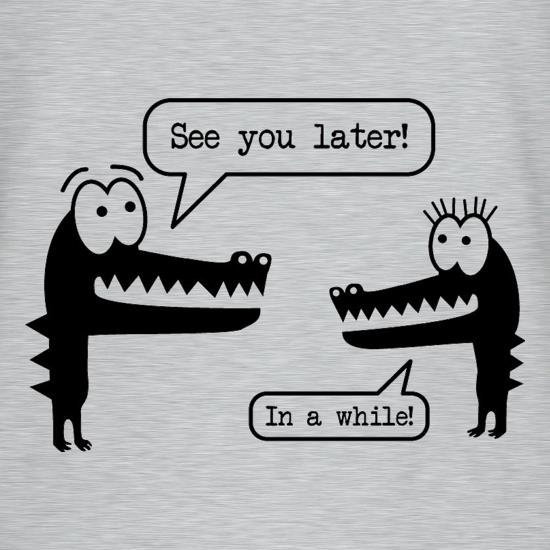 Crocodile & Alligator t shirt