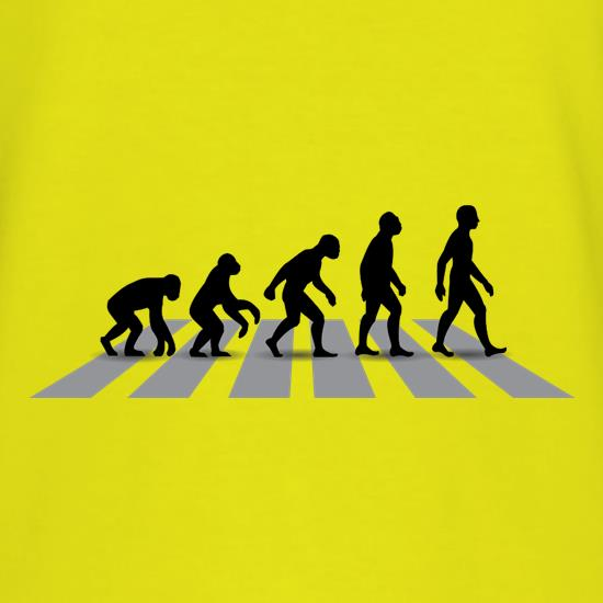 Evolution Of Man Abbey Road t shirt