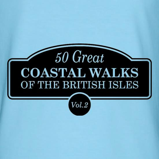 Fifty Great Coastal Walks Of The British Isles t shirt