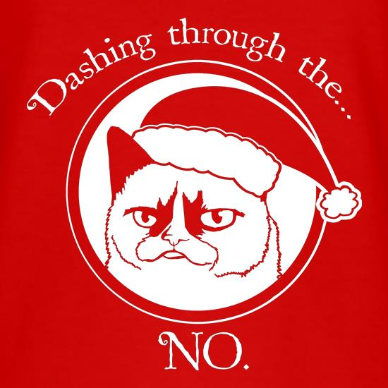 Grumpy Cat - Dashing Through The NO t shirt