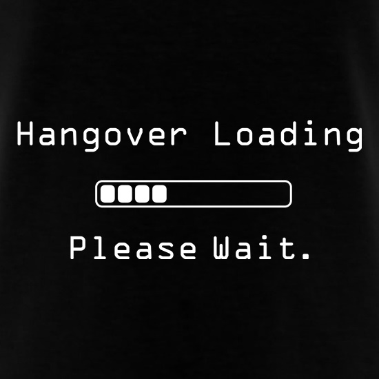 Hangover Loading...Please Wait t shirt