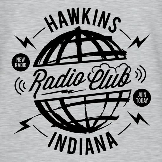 Hawkins Radio Club t shirt