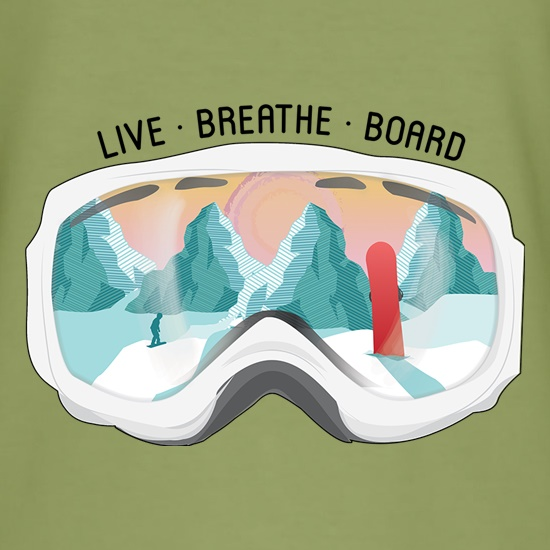 Live. Breathe. Board. t shirt