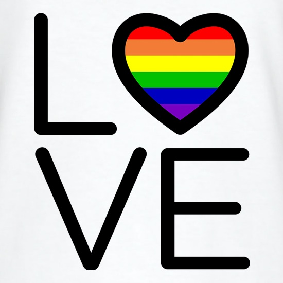 Love Pride Flag t shirt