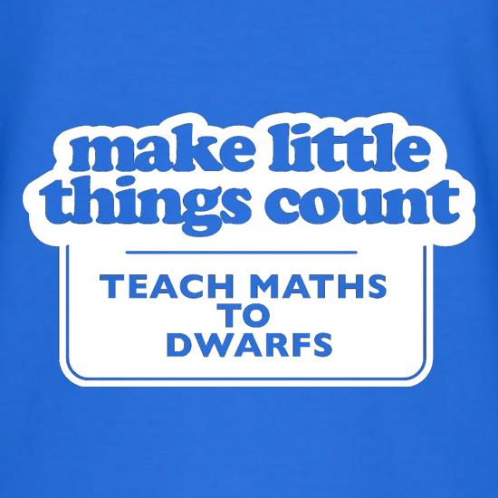 Make Little Things Count Teach Maths To Dwarfs t shirt