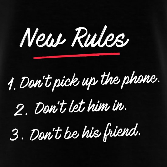 New Rules t shirt