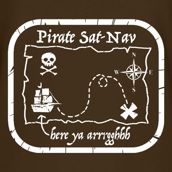 Pirate Sat Nav t shirt