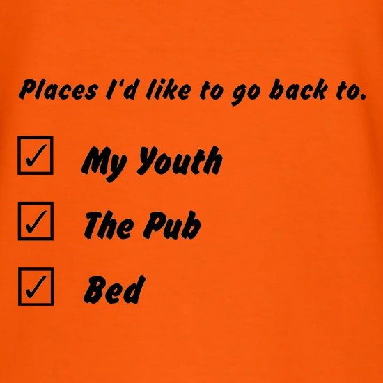 places id like to go back to t shirt