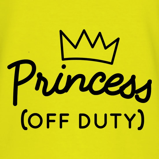 Princess (Off Duty) t shirt