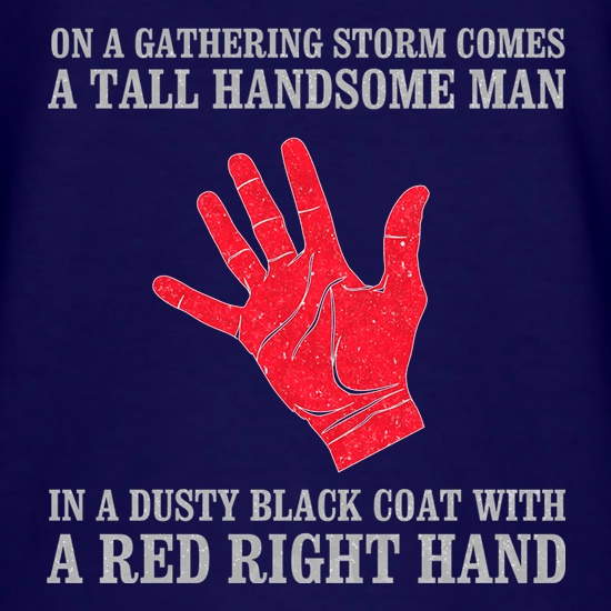 Red Right Hand t shirt