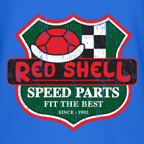 Red Shell Parts t shirt
