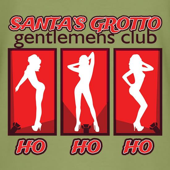 Santa's Grotto Gentlemens Club t shirt