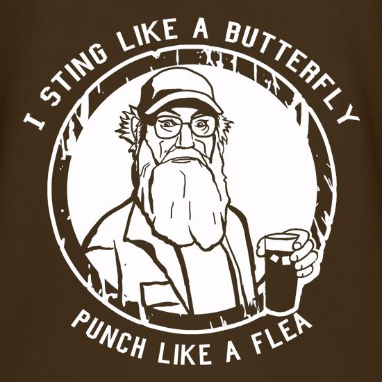 Si - I Sting Like A Butterfly, Punch Like A Flea t shirt
