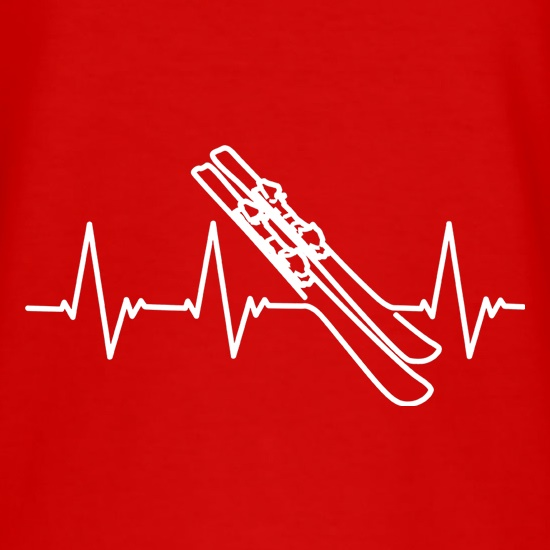 Skiing Heartbeat t shirt