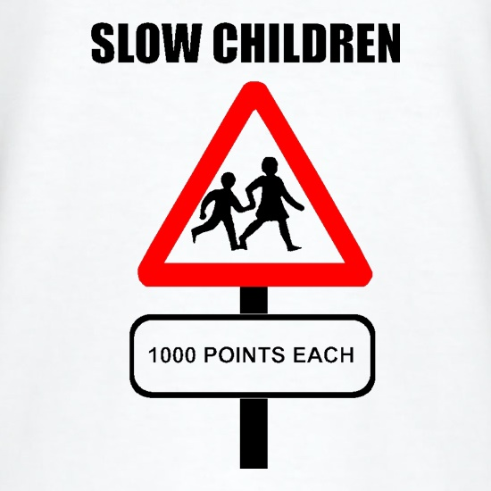 Slow Children 1000 points each t shirt