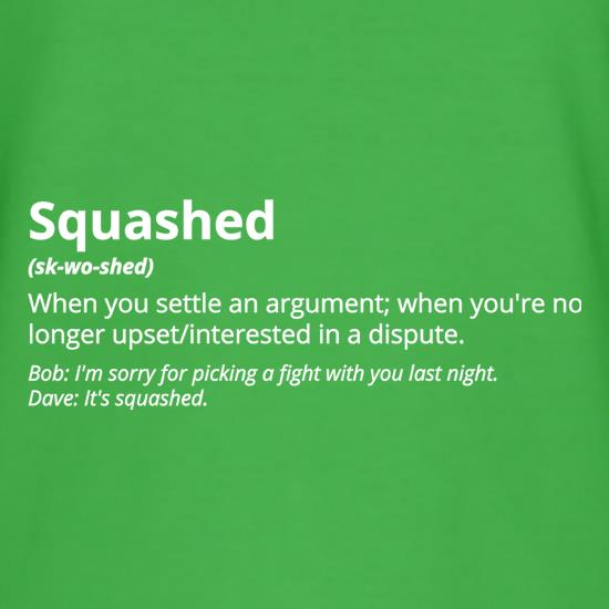 Squashed Definition t shirt