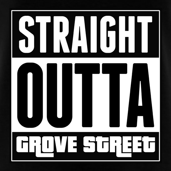 Straight Outta Grove Street t shirt