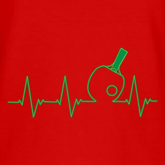 Table Tennis Heartbeat t shirt