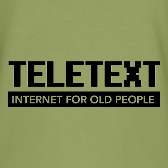 Teletext Internet For Old People t shirt