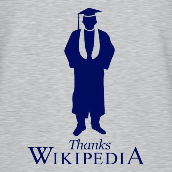 Thanks Wikipedia t shirt