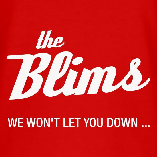 The Blims We Won't Let You Down t shirt