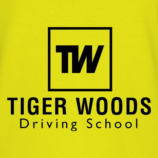 Tiger Woods Driving School t shirt