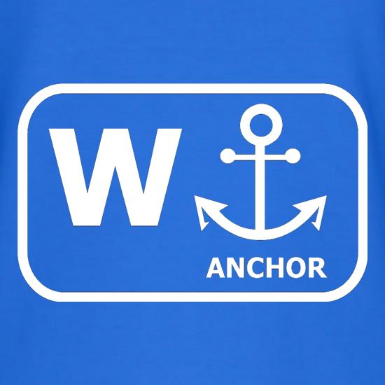 W Anchor t shirt