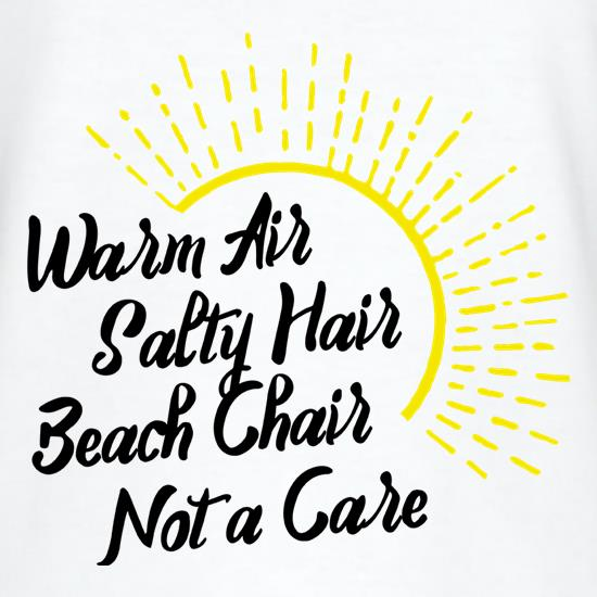 Warm Air, Salty Hair t shirt
